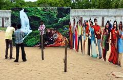 Photo studio on Chennai beach, India (josepsalabarbany) Tags: mango tropical species streetlife victorian jewel rajput fort jodhpur thanjavur jaipur gopura church stupa mandapa shikhara amalaka kalasha parvati siva delhijodhpur oldcity apsara khajuraho konark ellora chennai gujarat mumbai goa mysore karnataka bangalore punjab amritsar jainism ranakpur kobalam uttarpradesh tajmahal fatehpursikri ghat ganges benares varanasi orchha maharashtra god ganesh vimana temple bengal tyger elephant curry journey travel sculpture sea rajasthan kerala delhi hindu moguls people sun architecture art asia india beach nikond7000 josepsalabarbany
