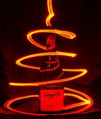 White white lit up red (Thorne Photography) Tags: light red lightpainting wine redlight winebottle whitewine chardonnay hardys cheeseandwine nottagehill