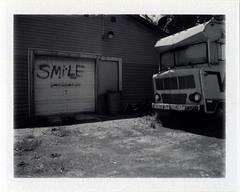 Elkhart, IN (moominsean) Tags: smile polaroid fuji indiana instant elkhart camper 190 fp3000b