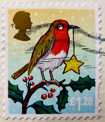 great xmas stamp GB 1.28  Great Britain (Erithacus rubecula, European robin, Rouge-gorge familier, Rotkehlchen) England noel United Kingdom UK timbre navidad Grande-Bretagne postage porto francobolli Gran Bretagna bollo sellos selo Gran Bretaa franco (thx for sending stamps :) stampolina) Tags: christmas xmas uk greatbritain england bird robin postes weihnachten star navidad december erithacusrubecula unitedkingdom stamps noel porto jul natale timbre europeanrobin  postage granbretagna vogel selo bolli sello sellos rotkehlchen  briefmarken frimrken briefmarke boenarodzenie  vnoce timbres frimrker granbretaa rougegorgefamilier  timbreposte francobolli bollo pullar  frimaerke  wysyka  yupio postetimbre  potarina  peiatky  potovn blyegek postestimbres
