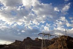 Wuestenstrom (nameissobst) Tags: energie himmel wolken metall industrie strom perspektive weitwinkel elektro strommast energiewende elektrizitat energieleitung stromtrasse