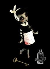 Malice (saijanide) Tags: art monster dark high doll artist dolls alice ooak pastel gothic goth lolita poison custom wonderland malice repaint reroot faceup saijanide