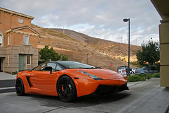 Lamborghini Gallardo SE (sumosloths) Tags: sf roof orange black sport se san francisco body top south sonic ms motor kit carbon fiber heights lamborghini mandalay matte gallardo motorsport stance lambo krew bodykit superleggera sumosloths