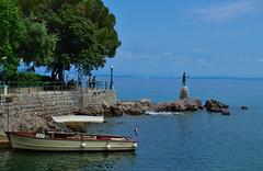 Taxi, Opatija riviera, Croatia (Bokeh & Travel) Tags: blue sea summer vacation seascape boat colorful riviera taxi croatia tourist destination popular lungomare opatija adriatic hrvatska abbazia kroatien
