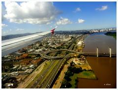 Vista Area de Porto Alegre - Brasil (o.dirce) Tags: cidade brasil portoalegre paisagem cu nuvens vistaarea odirce