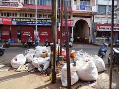 333 CCP worker on strike since 16.12.14 (joegoaukdirtypanjim9) Tags: garbage market goa dirty rubbish panaji joegoauk