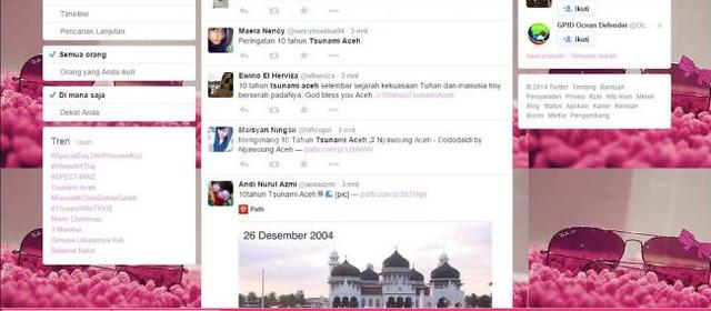 Tsunami Aceh, Jadi Trending Topic di Twitter | Covesia.com