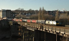 68014 at Newport. 7/12/14 (Nick Wilcock) Tags: wales riverusk crewe newport railways chiltern ecs drs directrailservices 68014 class68 cardiffpengam