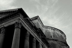 Pantheon, Rome_B&W (MM_Miha) Tags: bw italy rome architecture pantheon