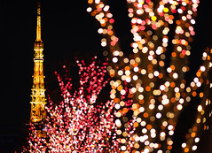Tokyo Tower in Red (laugh_gas) Tags: red orange black tower night zeiss tokyo sony illumination roppongi f18 135mm a7m2