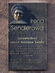 Irena Sendler memorial plaque on the wall of 2 Pawińskiego Street (stillunusual) Tags: street travel history plaque germany deutschland holocaust memorial thirdreich nazi streetphotography poland polska warsaw jew jewish jews ghetto warszawa jewishghetto shoah getto 2014 zegota germanhistory travelphotography polishhistory warsawghetto travelphoto nazigermany travelphotograph memorialplaque righteousamongthenations irenasendlerowa irenasendler jewishwarsaw historiapolski historyofpoland righteousgentile żegota