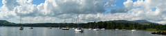 Lake Windemere from Ambleside Panorama (chris.willis3) Tags: sky panorama water clouds boats lakedistrict peaks stitched ambleside windemere panasonicdmcfz8 chriswillis3
