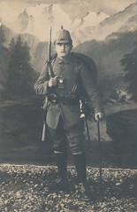 Bavarian Jger equipped for mountain warfare - Alpenkorps (Paranoid_Womb) Tags: soldier army war postcard wwi ak german weapon imperial soldiers ww1 1914 1915 greatwar 1917 1918 1916 weltkrieg