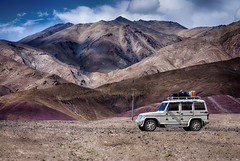 Bolero. (Prabhu B Doss) Tags: travel india mountain jeep vehicle himalayas ladakh bolero jammuandkashmir hanle nyoma prabhubdoss