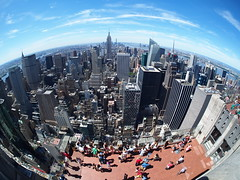 Fisheye photo from top of the rockefeller building.