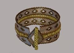 Peyote beaded bracelet (Bridget Derc) Tags: bracelet bead delica