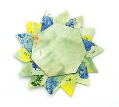 Fujimoto heptagon Rosette 38 front (Pliages et vagabondages) Tags: star origami rosette décoration étoile fujimoto