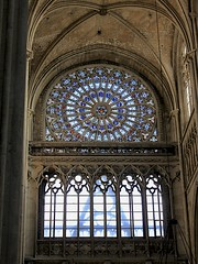 North Transept Rose Window (oxfordblues84) Tags: france europe cathedral stainedglass rouen frenchgothic rosewindow catholiccathedral seinemaritime frencharchitecture rouencathedral hautenormandie cathedralinterior roadscholar uppernormandy roadscholartour roadscholarfieldtrip angetenantunecouronne