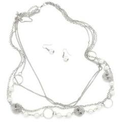 5th Avenue White Necklace P2620-2
