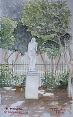 El Invierno (paco tejedor) Tags: espaa calle spain arboles drawing andalucia watercolour acuarela andalusia estatua mlaga marmol alegora teatroromano callealcazabilla