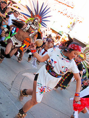 Aztec Dancers (shaire productions) Tags: street costumes people heritage oakland photo dance costume dancers dancing aztec candid picture culture mexican photograph warrior moment tradition performers cultural