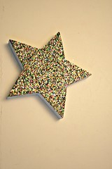 Glitter Fun! (EarthMotherMosaics) Tags: glitter star mosaics temperedglass
