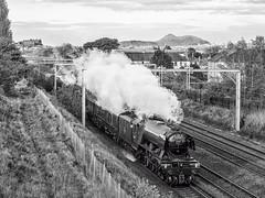 The Flying Scotsman Redux (Graeme Pow) Tags: railroad train scotland edinburgh edinburghcastle engine scottish arthursseat steamtrain salisburycrags flyingscotsman cathedralsexpress 60103
