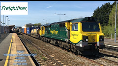 FREIGHTLINER 70008 PASSING SWINDON 04052016 (MATT WILLIS VIDEO PRODUCTIONS) Tags: swindon passing freightliner 70008 04052016