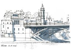 Seville (gerard michel) Tags: sketch sevilla spain espana un pont beau lunette croquis
