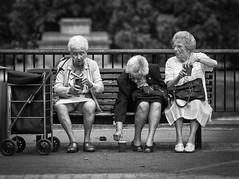 Strip Teas... (SimonJX) Tags: park ladies friends london coffee women tea knickers seat parkbench seated cupoftea oldladies cupofcoffee