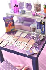 Re-ment Addicts Colour Challenge - Purple, Burgundy, Lavender (Random Life Project) Tags: toys miniatures miniature purple lavender mimo rement vitra japanesetoy colorchallenge megahouse colourchallenge rementaddicts miniatureikea miniaturemarbles