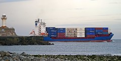 Ships on the Tees-Canopus J-1 (Kev's.Pix) Tags: lighthouse ship containership shipping teesside rivertees southgare teesport canopusj shipsonthetees