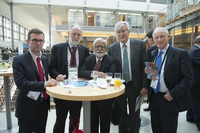 Patrick Mallejacq, Jack Short, K. L. Thapar, Oscar de Buen Richkarday and José Luis Irigoyen pose for a picture