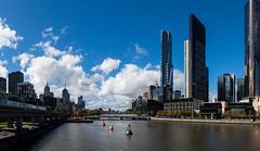 Yarra River, Melbourne (Atrum Lupus) Tags: city bridge panorama skyscraper train aquarium downtown australia melbourne sealife victoria rivire pont ville australie melbourneaquarium yarrariver gratteciel