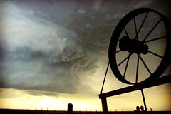 Country Storm (moniquef123) Tags: sky storm nature weather clouds dark landscape countryside texas ominous country weatherphotography therebeastormabrewin
