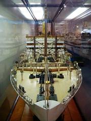 Otranto bow 1 (PhillMono) Tags: reflection heritage history museum lumix boat miniature model ship australia vessel line panasonic maritime bow passenger nautical orient otranto