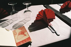 untitled (amanda aura) Tags: barcelona film restaurant spain drawing interior olympusom1