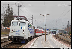 Lokomotion 139 133 + Railpromo Austria Express, Zell am See 12-03-2016 (Henk Zwoferink) Tags: austria see am lomo rail company express henk zell 139 133 rtc lokomotion br139 tracion zwoferink railpromo wagonservices