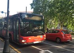 Bilbobus 56 (inigo.vanaman) Tags: espaa man bus la spain country jesus bilbao transportation autobus sagrada bizkaia basque euskadi corazon 56 pea arriaga bilbobus bihotza