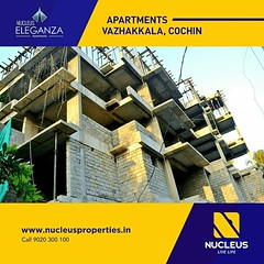 The works of Nucleus Eleganza is proceeding in full swing at Vazhakkala, Cochin. Gladly sharing some of the latest picture from the site along with the 3D view.   Taking the cozily elegant experience to cloud nine!   Visit us on www.nucleusproperties.in (nucleusproperties) Tags: life city india building home nature beautiful beauty architecture design living construction realestate view apartment interior gorgeous lifestyle style atmosphere kerala villa environment elegant exquisite comfort luxury kochi elegance luxuryhomes