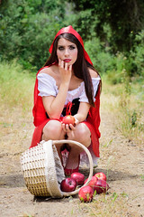 The Little Red Hood (Victor T..) Tags: red beautiful costume model photoshoot cosplay makeup riding littleredridinghood hood shooting mua