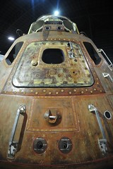 Apollo 15 Command Module in the Missile and Space Gallery at the National Museum of the United States Air Force. (lee.ekstrom) Tags: world ohio two cold museum project scott 1 war gallery force space air north first 15 korea vietnam viet national ii american falcon planes patterson missile rockwell wright apollo usaf lunar base command dayton irwin nam module endeavour i