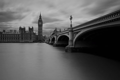 London (neals pics) Tags: my100xbw bw blackwhite monochrome blackandwhite mono england night longexposure urban architecture buildings london thames river water cloud bigben parliament bridge lamp 100xthe2016edition 100x2016 image47100