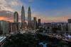 Petronas Tower (Adi Vlado Kristanto) Tags: sunset tower landscape petronas kualalumpur klcc tradershotel