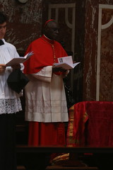 Robert Cardinal Sarah (Lawrence OP) Tags: red london choir cardinal oratory vespers pontifical 2016 5july sacraliturgia