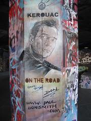 Jack Kerouac stencil, Paul Don Smith, Southbank (duncan) Tags: graffiti stencil southbank don kerouac ontheroad jackkerouac pauldonsmith