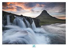 Kirkjufell magic (darkshine231) Tags: sunset 2 mountain water landscape waterfall iceland xpro fuji famous wide fujifilm fujinon kirkjufell