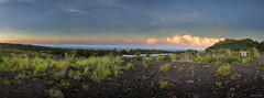 Panoramic Sunrise view from the slope of Mt Merapi - Yogyakarta, Indonesia. (S.T.Chang) Tags: morning light panorama mountain color colour green nature grass sunrise indonesia volcano cool twilight wide yogyakarta merapi centraljava