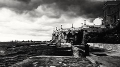 Storm (michelabianco) Tags: storm tempest thunderstorm wind wild contrast contrasto black white afraid beach