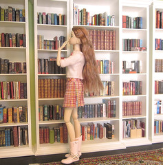 Decisions, decisions (MurderWithMirrors) Tags: momoko sekiguchi doll cosmossweetheart library books miniaturebooks mwm lili